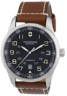 Victorinox Swiss Army Men's 241507 Air Boss Black Dial Brown Strap Watch