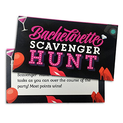 Bachelorette Party Game - Naughty Scavenger Hunt (Teal Zebra Party Supplies compare prices)