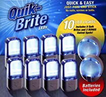 Quik Brite LED Lights- Set of 8 with Bonus Swivel Spots