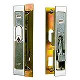 WEST製 アルミサッシ 引戸錠 召合せ KH-2 キー3本付属 引き戸 鍵 交換 取替え 主な使用サッシ:YKK, 不二, 神鋼 など KH2 引戸 引違戸
