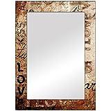 The Attic Millard Mirror Frame (Glossy Finish, Brown)