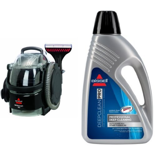 Professional Deep Cleaning Bundle - SpotClean Professional Portable Cleaner + Deep Clean Pro 2X Deep Cleaning Formula, 48 oz (Bissell 2x Deep Cleaning Formula compare prices)