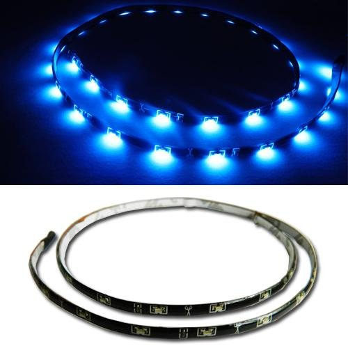 Orion Technology Blue 12 Inches 15-Smd Diy Flexible Waterproof Led Sideshine Side Glow Strip Lights