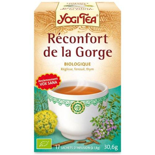 réconfort gorge yogi tea boite de 17 infusettes - une gorge douce po