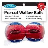Top Glides Precut Walker Tennis Ball Glides - Patriotic - 1 Pair
