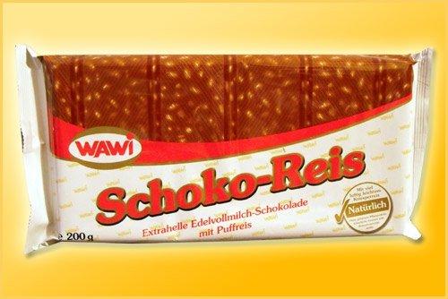 Wawi Milk Chocolate Rice Puffs 200g (6-pack)