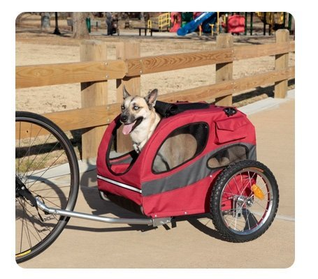 Solvit SOLV62340 Track'r Houndabout Pet Bicycle Trailer - Medium