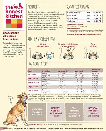 The Honest Kitchen Verve: Beef & Whole Grain Dog Food, 10 lb_Image3