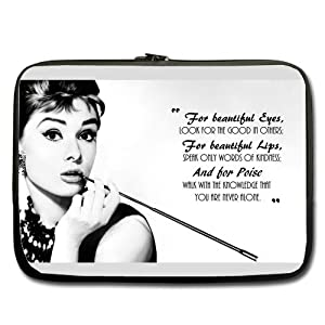 Audrey Hepburn Quote Laptop Case