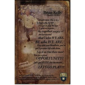 Buy Coach Brian Kelly 11x17 Half Time Quote Photo