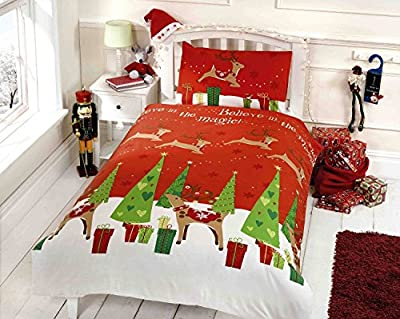 Kids Christmas Reindeer & Christmas Tree Bed Bed Set Double -Single
