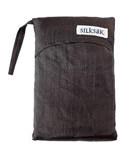 Silksak Silk Sleeping Bag Liner Double -Black