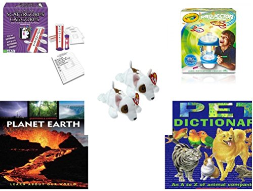 [Children's Fun & Educational Gift Bundle - Ages 6-12 [5 Piece] - Includes: Game - Toy - Plush - Hardcover Book - Paperback Book - Item No.] (Things That Start With The Letter O)