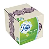 Puffs Plus Lotion Facial Tissues; 24 Cubes; 56 Tissues per Box (Pack of 24) (Packaging May Vary)