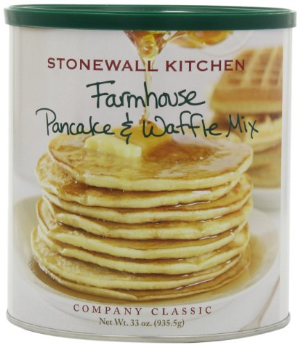 Stonewall Kitchen Farmhouse Pancake and Waffle Mix, 33-Ounce Cans (Pack of 2) at Amazon.com