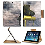Luxlady Premium Apple iPad Air (Fifth Generation) Generation Flip Case Digital Illustration of a Piano IMAGE 21256286 Pu Leather Card Holder Carrying