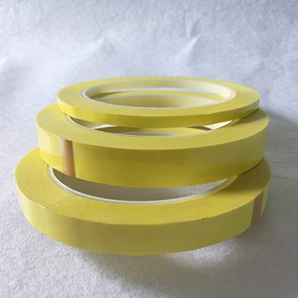CHINAJIAODAI 1 roll Yellow Adhesive Insulation Mylar Tape for Transformer Motor Capacitor Coil Wrap Anti-Flame,10mmx66m (Color: 10mmx66m)