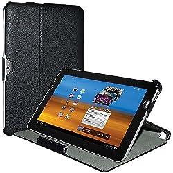 Amzer 93678 Shell Portfolio Case - Black Leather Texture for Samsung GALAXY Tab 750, Samsung GALAXY Tab 10.1 P7100
