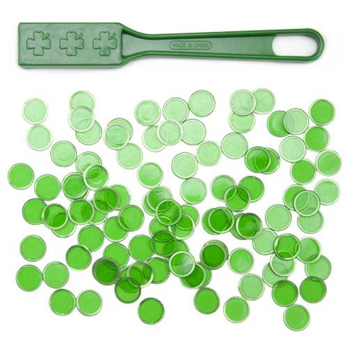 Magnetic Bingo Wand with 100 Metallic Bingo Chips by Royal Bingo Supplies (Green)
