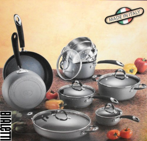 Copper Cookware Set Bialetti 13 Piece Aluminum Nonstick