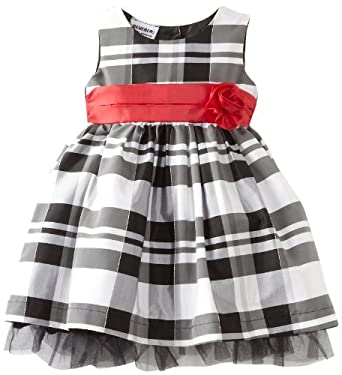 Blueberi Boulevard Baby Girls Infant Flock Velvet PLD Dress, Black, 24 Months
