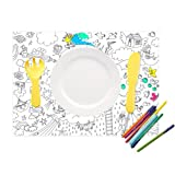 Set of Placemat Colouring Pages - Crayon Character||RLCTB