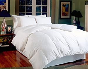 Blue Ridge Home Fashions Aurora White Goose King Down Comforter