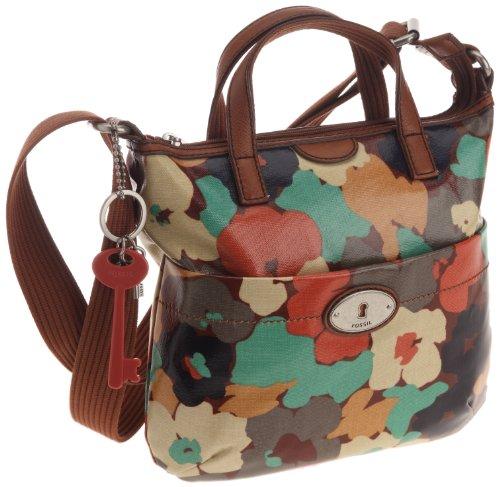 Womens Nylon Handbags FOSSIL WOMEN BAG W VINTAGE KEYPER CNVS CRSBDY FLORAL ZB5125919