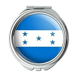 Honduras National Country Flag Compact Purse Mirror
