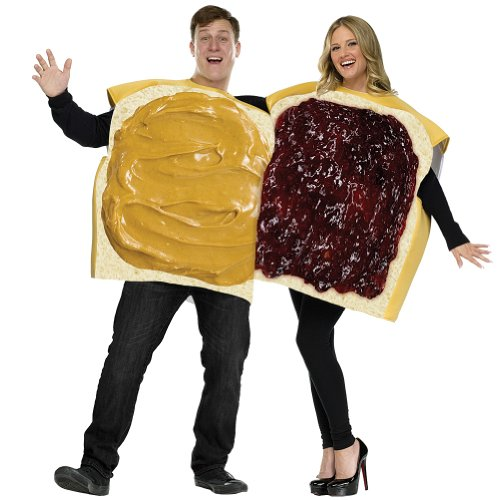 Peanut Butter-Jelly Couple Costume Adult Mens Costume