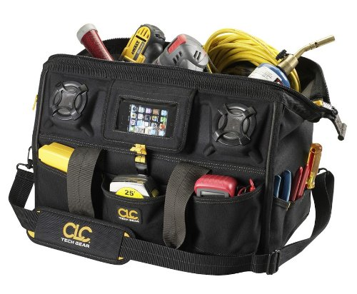 Custom Leathercraft A233 18-Inch 39 Pocket Tech Gear Stereo Speaker Mega Mouth Tool Bag