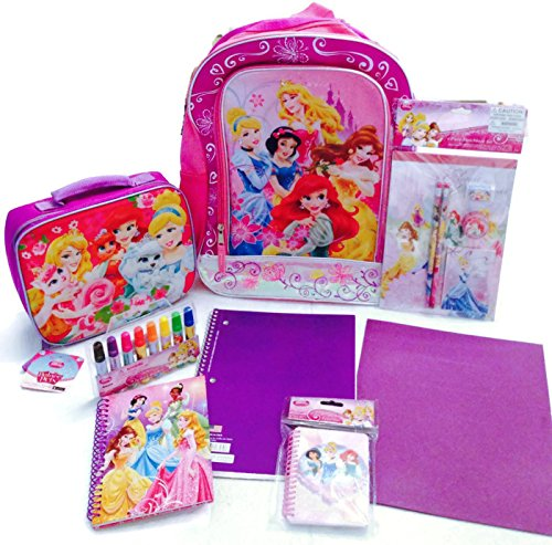 Disney Princess 20 Piece Light up Back to School Bundle Backpack and Lunch Kit