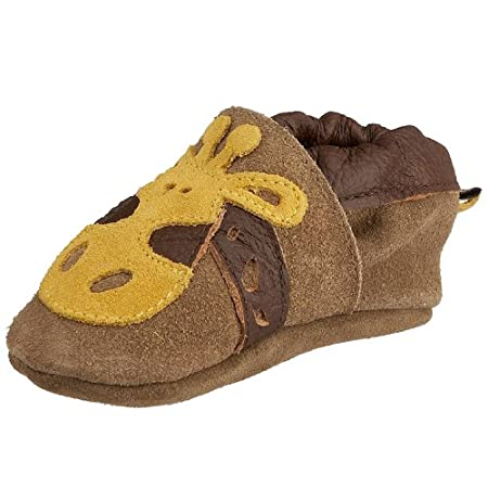 Groovy Giraffe Shoes - Leather Baby Shoes