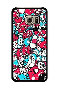 Caseque Alien Attack Back Shell Case Cover for Samsung Galaxy S6 Edge