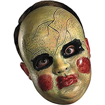 Smeary Doll Face Mask (As Shown;One Size)