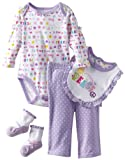 Vitamins Baby-Girls Newborn Peace 4 Piece Pant Set
