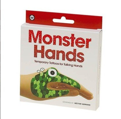 Monster Hands Temporary Tattoos - 1