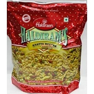 Haldirams Khatta Mitha Sweet-n-spicy Mix Of Gram Flour Noodles Green Peas Boondi - 3530oz 1kg by Haldiram