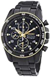 Seiko Sportura SNAF34P1 42mm Ion Plated Stainless Steel Case Black Steel Bracelet Anti-Reflective Sapphire Men's Watch thumbnail