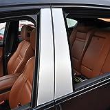 6x Alu geb�rstet Silber T�rzierleisten Verkleidung B S�ule T�rs�ule passend f�r Ihr Fahrzeug