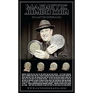 MMS Magnetic Jumbo Coin with DVD (US Half Dollar) by Anton Corradin - Trick