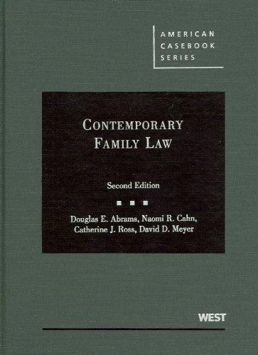 Contemporary Family Law (American Casebook) (American...