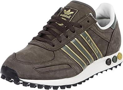 sports shoes 131c6 057c6 Adidas Trainers Shoes Mens La Trainer Grey  Amazon.co.uk  Shoes   Bags