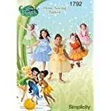 Simplicity 1792: Toddlers' and Child's Disney Fairies Costume Sewing Pattern, Size BB (4-5-6-7-8)