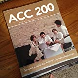 img - for ACC 200 Managerial Accounting book / textbook / text book