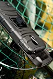 ShockWize (TM) Stealth Series Samsung Galaxy Mega 6.3 Black Shell Holster Armor Protector Cover Case Tri-Layer Shock Absorbing Rigid Hybrid Dual Kickstand with Locking Swivel Belt Clip GT-I9200 I9200 I9205 (Black)