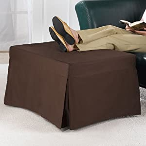 ottoman bed with cover brown ottaman hide a bed. Black Bedroom Furniture Sets. Home Design Ideas