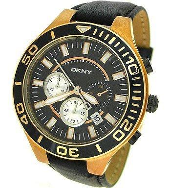 DKNY - NY1454 - Chronographe - Montre Homme - Bracelet en cuir noir
