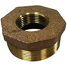 Anderson Metals Brass Pipe Fitting, Hex Bushing, NPT Male x NPT Female