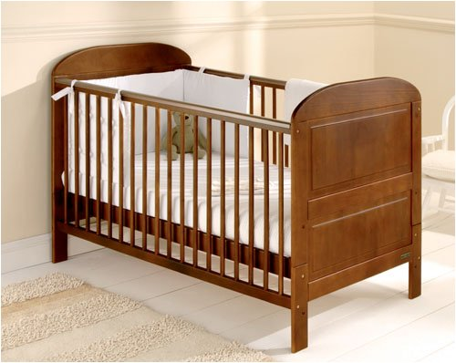 East Coast Angelina Cot Bed Cocoa with Foam Mattress